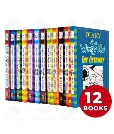 Diary of a Wimpy Kid Collection 12 Books Set
